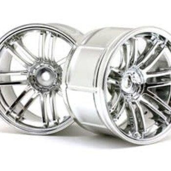 HPI Racing LP35 Wheels, Rays Volkracing RE30-9mm OffSet, Chrome, (2pcs)