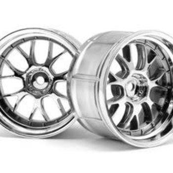 HPI Racing LP35 LM-R Wheel, 9mm OffSet, Chrome, (2pcs)