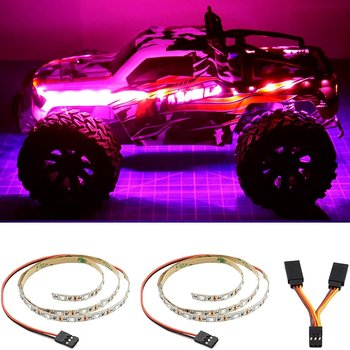 Elechawk LED Light Strip for RC Fixed Wing Airplane Flying Wing Plane AR Wing Drone Model Car Truck (Pink)