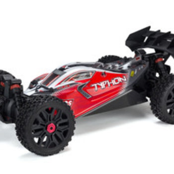 arrma AR402274 Typhon 4x4 Blx Painted Decaled Body Red