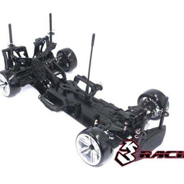 Sakura 3RACING Sakura D4 1/10 Drift Car(RWD - Sport Black edition)- Pre-assembled KIT-D4ARWDS/BK