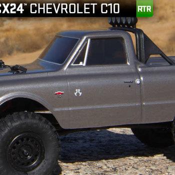 SCX24 1967 Chevrolet C10 1/24 4WD-RTR Silver incl. lwr 48 ship
