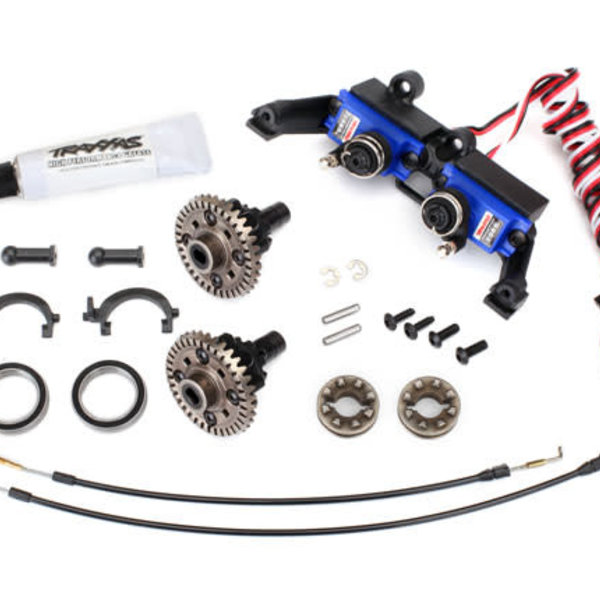 Traxxas 8195 - Differential, locking, front and rear (assembled) (includes T-Lock cables and servo)