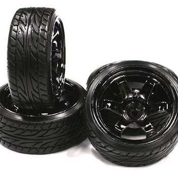 Integy Type Xl complete wheel and tire set (4) for drift racing