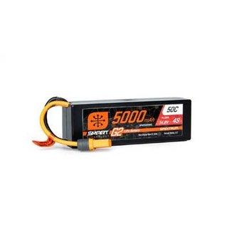 Spektrum 5000mAh 4S 14.8V Smart G2 LiPo 50C Hard Case; IC5