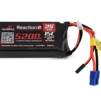 Dynamite Reaction2 7.4V 5200mAh 2S 15C LiPo: 5ive-T, 5ive-B