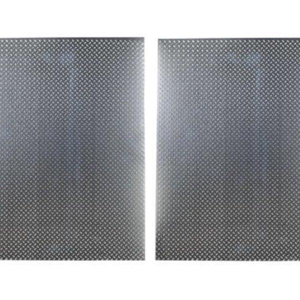 HOT RACING 1/10 Scale Aluminum Silver Diamond Plate (2)