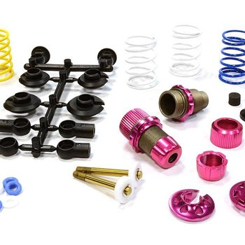 Integy XSR11 Competition 52-55mm Racing Shock (2) for 1/10 Touring Car & Drift Car C25910PINK