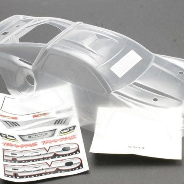 Traxxas Body, Revo® (Platinum Edition) (clear, requires painting)/decal sheet