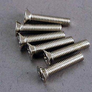 Traxxas Screws, 3x15mm countersunk machine (6)