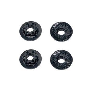 ASSOCIATED Factory Team M4 Low Profile Wheel Nuts, Black