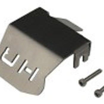 HOT RACING Stainless Armor Skid Plate Front/Rear: TRX 4