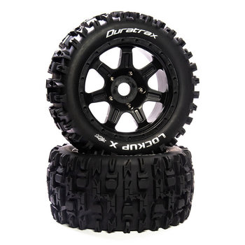 DuraTrax Lockup X Belted Mounted Black 24mm Kraton 8S (2)