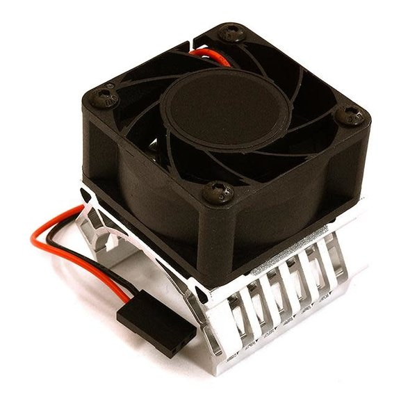 Integy 36mm Motor Heatsink+40mm Fan 17k rpm for 1/10 Slash 4X4, Stampede 4X4, 4-Tec 2.0 C28602SILVER