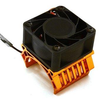 Integy 36mm Motor Heatsink+40mm Fan 17k rpm for 1/10 Slash 4X4, Stampede 4X4, 4-Tec 2.0 C28602ORANGE