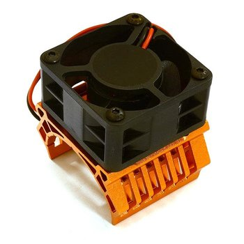 Integy 36mm Motor Heatsink+40mm Fan 16k rpm for 1/10 Slash 4X4, Stampede 4X4, 4-Tec 2.0 C28601ORANGE