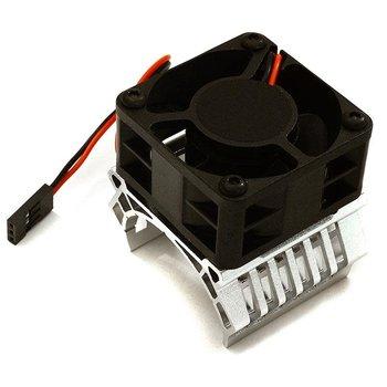 Integy 36mm Motor Heatsink+40mm Fan 16k rpm for 1/10 Slash 4X4, Stampede 4X4, 4-Tec 2.0 C28601SILVER