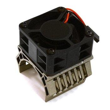 Integy 36mm Motor Heatsink+40mm Fan 16k rpm for 1/10 Slash 4X4, Stampede 4X4, 4-Tec 2.0 C28601GREY