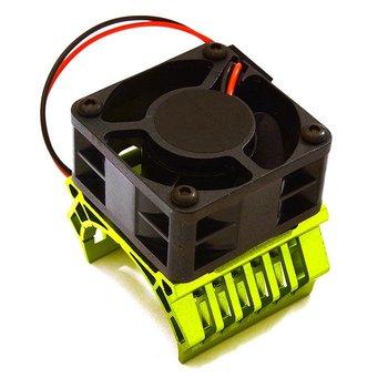 Integy 36mm Motor Heatsink+40mm Fan 16k rpm for 1/10 Slash 4X4, Stampede 4X4, 4-Tec 2.0 C28601GREEN