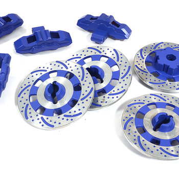 Integy Realistic Scale Alloy Brake Disc Set for Traxxas 1/7 Unlimited Desert Racer C29871BLUE New Item