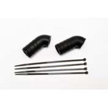 hobao HOBAO SILICONE PIPE TUBE BLACK (2PCS)