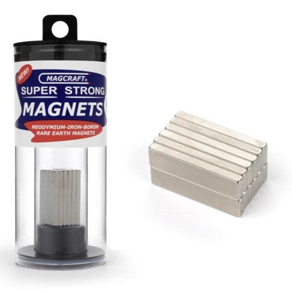 "1""x1/4""x1/10"" Rare Earth Block Magnets (12)"