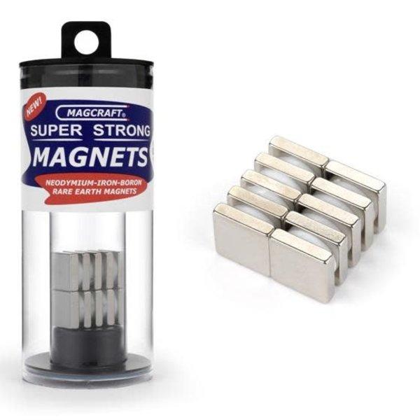 "MAGCRAFT 1/2""x1/2""x1/8"" Rare Earth Block Magnets (10)"