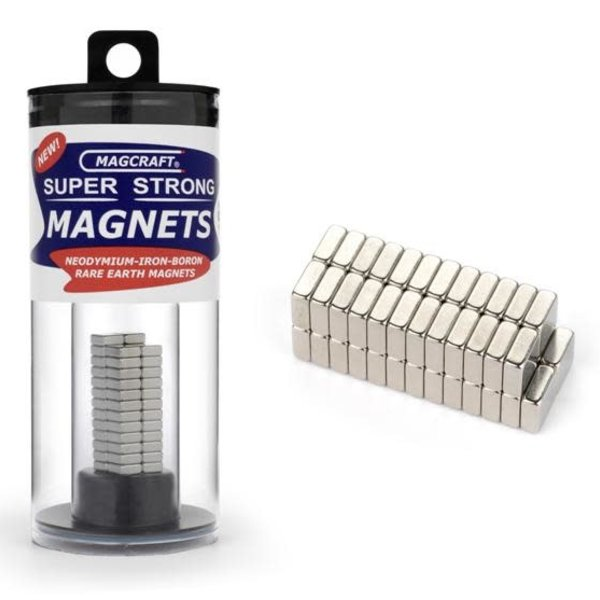 "MAGCRAFT 1/4""x1/4""x1/10"" Rare Earth Block Magnets (50)"