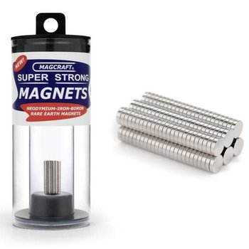 """MAGCRAFT 1/8""""x1/32"""" Rare Earth Disc Magnets (150)"""