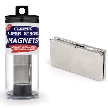 "MAGCRAFT 1""x1""x1/8"" Rare Earth Block Magnets (4)"
