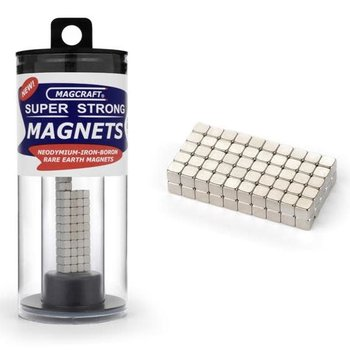 """MAGCRAFT 1/8"""" Rare Earth Cube Magnets (100)"""