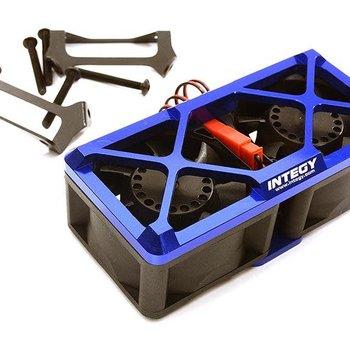 Integy Ultra High Speed Twin Cooling Fan Kit 17k rpm for Traxxas X-Maxx C28697BLUE