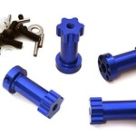 Integy 12mm Hex Extended Wheel (4) Hub 28mm Thick for Most Traxxas 1/10 C28019BLUE
