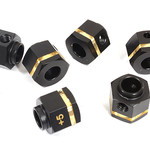 Integy 12mm Hex Wheel (6) Hub Brass +5mm Offset for Traxxas TRX-6 Scale & Trail Crawler C29448