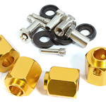 Integy 12mm Hex Wheel (4) Hub Alloy 14mm Thick for Traxxas TRX-4 Scale & Trail Crawler C30013GOLD