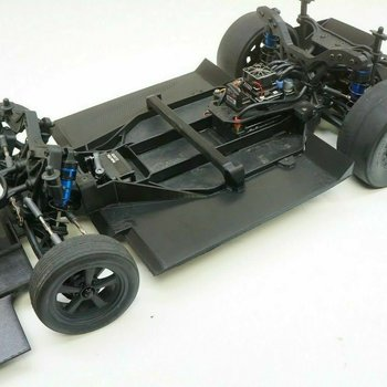 """AJC Aero Downforce Kit Ground Effects Undertray Diffuser Team Associated DR10 NPRC  (""""CAR NOT INC.)"""