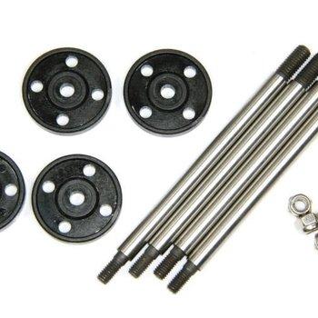 LOSI Fr/Rr Shock Shaft & Piston Set: 1:5 4wd DB XL
