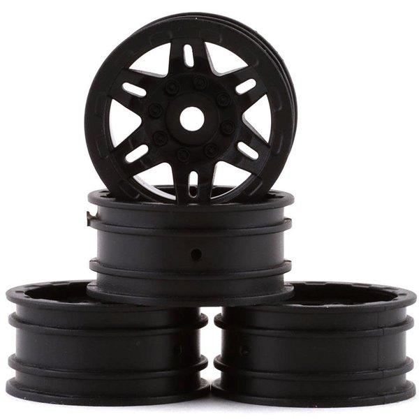 1.0 Rockster Wheels Black (4pcs): SCX24