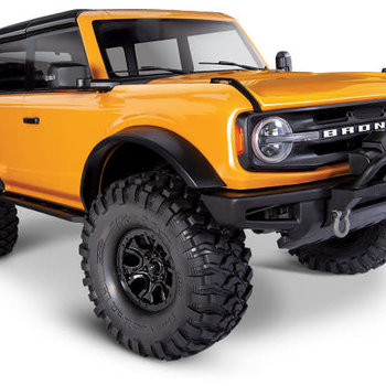 Traxxas 92076-4 - TRX-4® Scale and Trail™ Crawler with 2021 Ford Bronco Body: 1/10 Scale 4WD Electric Truck. Ready-to-Drive® with TQi Traxxas Link™ Enabled 2.4GHz Radio System, XL-5 HV ESC (fwd/rev), and Titan® 550 motor - ORANGE
