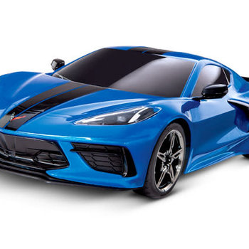 Traxxas 93054-4 - Chevrolet® Corvette® Stingray: 1/10 Scale AWD Supercar. Ready-To-Race® with TQ 2.4GHz radio system and XL-5 ESC (fwd/rev) - bLUE