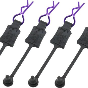 HOT RACING Body Clip Retainers 1/10 (4) purple