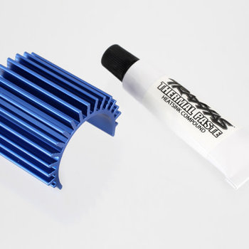 Traxxas Heat sink, Velineon® 380 brushless motor, aluminum (blue-anodized)