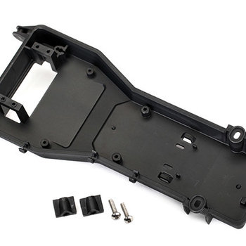 Traxxas Radio tray/ radio tray retainer (2)/ 4x16mm BCS (stainless) (2)