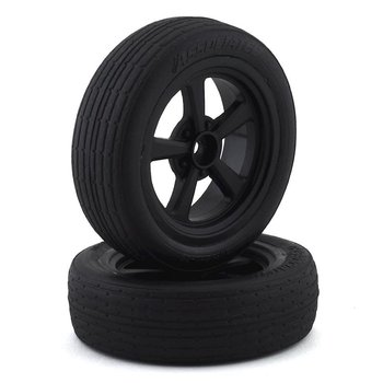 ASSOCIATED DR10 Front Wheels and Drag Tires, mounted