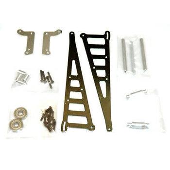 strc CNC Machined Aluminum Wheelie Bar Kit, for DR10, Gun Metal
