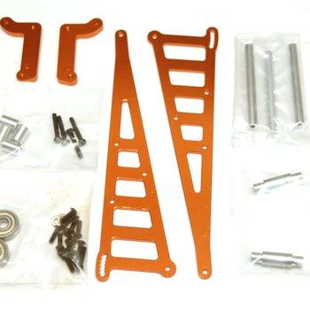 strc CNC Machined Aluminum Wheelie Bar Kit, for DR10, Orange