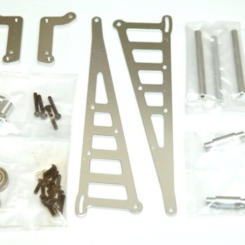 strc CNC Machined Aluminum Wheelie Bar Kit, for DR10, Silver