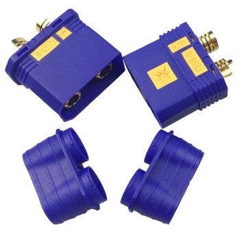 QS QS8 Antispark male and female plug set Blue