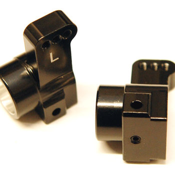 ST Racing Concepts Black Rear Hub Carriers, for Associated DR10, CNC Machined Aluminum, 0-deg. Toe-In, 1pr