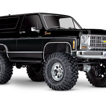 Traxxas TRX-4® Scale and Trail® Crawler with 1979 Chevrolet® Blazer Body: 1/10 Scale 4WD Electric Truck. Ready-to-Drive® with TQi™ Traxxas Link™ Enabled 2.4GHz Radio System, XL-5 HV ESC (fwd/rev), and Titan® 550 motor (Online price includes ground shipping)
